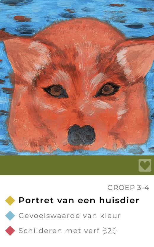 Lessen dierendag beeldend